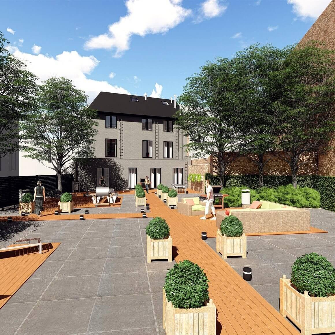 Residentie KAPUCIN tuin Leuven